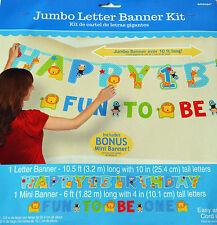 Boy 1st Birthday Party Supplies ONE WILD BOY ADD AN AGE LETTER BANNER KIT