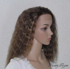 Handsewn Perruque FULL LACE FRONT Kinky Wigs 9118#4F27