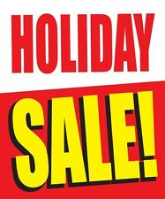 "HOLIDAY SALE 18""x24"" STORE BUSINESS RETAIL DISCOUNT PROMOTION SIGNS"