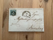 Altdeutschland Bayern Michel-Nr 2 auf Brief / geschl. Mühlradstempel 311