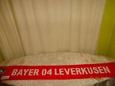 "Bayer 04 Leverkusen Original Werbe Fan Schal ""BAYER 04 LEVERKUSEN"" + ""WÜRTH"" Neu"