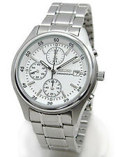 SEIKO Chronograph SND217 SND217P1 Men White Dial Stainless Steel Watch