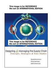 Designing and Managing the Supply Chain by David S (Int' Ed Paperback)3 Ed W/CD