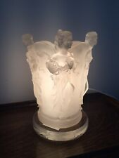 Widdop Bingham Lalique Style Lamp With Four Lady Figurines