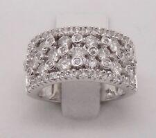 14k WHITE GOLD ROUND DIAMOND WIDE ANNIVERSARY BAND