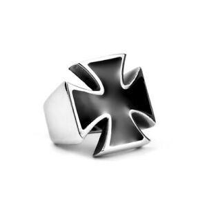 Iron Cross Ring High Quality Stainless Steel WW2 Biker Gothic Punk Vintage