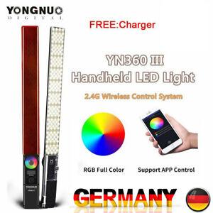 YONGNUO YN360III 5500K+RGB Handheld LED-Videoleuchte CRI 95+ Fernbedienung L1J6