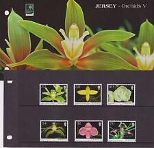 JERSEY PRESENTATION PACK 2004 ORCHIDS V STAMP SET 10% OFF 5+