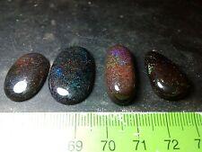 Opal Australian Andamooka Polished Beautiful Colors 4 pieces 47 cts