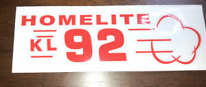 Homelite Go-Kart Decal OLD SCHOOL 1960 KL 92 Decal Reproduced From Original