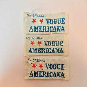"Lot of 3 ""Original Vogue Americana"" Sew In Garment Labels"