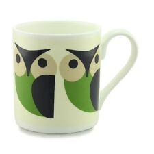 Orla Kiely Bone China Mug - Green Olly Owl Design. Tea/Coffee cup