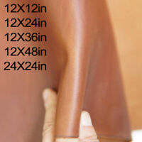 Cowhide Leather Sheets for Crafts - 2.0 mm Real Leather Fabric, Whiskey Brown