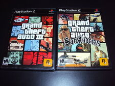 """Grand Theft Auto San Andreas & GTA III LOT """"Great Condtion"""" (PS2) Complete"""