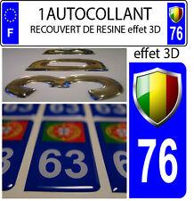 1 sticker targa auto EFFETTO DOMING 3D RESINA BANDIERA ITALIA STEMMA 76