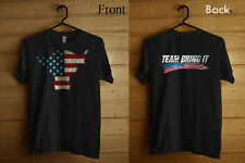The Rock Team Bring It USA Black T-shirt Size S-5XL