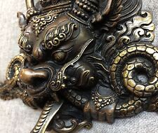 Dragon Mask Tibetan Buddhist Bronze Handcrafted from Nepal Very Detailed Medium