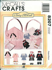 McCalls 8207 Flat Fabric Doll Crafts Betsy McCall Carrying Case pattern UNCUT FF