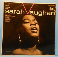 SARAH VAUGHAN AFTER HOURS LP 1955 MONO ORIGINAL 6 EYE NICE CONDITION! VG/VG!!B