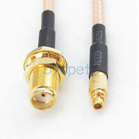 MMCX male plug to SMA female jack RG316 cable Pigtail Coax Coaxial Kable 50ohm