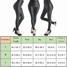 Legging Faux Leather High Waist Stretch Slim Skinny Tight Pencil Pants Women NEW
