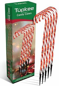 Candy Cane Lights Decorations - Pathway Christmas Lights, 26-Inches, Set of 5