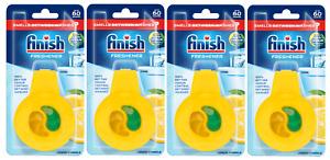 Finish Dishwasher Freshener Eliminates Odours Bad Smells Lemon Sparkle Pack of 4