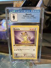 Pokemon WOTC 1st Edition Jungle Meowth GRADED CGC 9 Mint 56/64 (PSA / BGS)