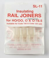 Peco SL-11 insulating rail joiners (12) for HO/OO, O & O-16.5, for Code 100 rail