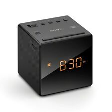 New Sony FM/AM Clock Portable  Travel Alarm Clock Radio - Black ICFC1B.CEK
