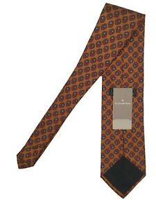 NEW Ermenegildo Zegna Silk Tie!  *Rust Orange With Floral Medallions*  *Italy*