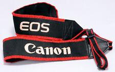 CANON EOS RED BLACK Vintage CAMERA STRAP Genuine 5D 1300D 760D 80D 7D 6D Mark IV