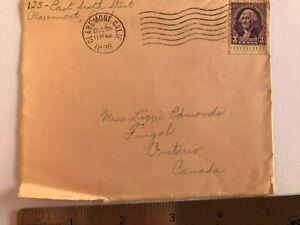 1937 US George Washington Envelope Scott 720v Rare Violet 3 Cent Stamp