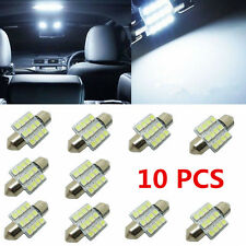 10pcs Super White 31MM 12 SMD LED Festoon Dome Map Interior Light Bulb 1210 3528