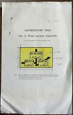 """India 1943 Traffic Sign ROAD JUNCTION APPROACH informatory poster 13.5"""" x 8.5"""""""