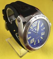 Swiss Legend 10043-03 Mens Sprint Racer Royal Blue Dial Black Silicone Watch