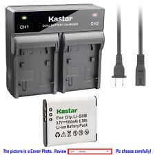 Kastar Battery Rapid Charger for Olympus Li-50B LI-50C & Tough TG-610 TG-615 iHS