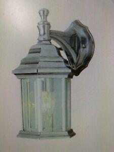 Trans Globe Lighting 4349 BN 1 Light CAST ALUM  Lantern Outdoor Wall LAMP (#42E