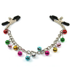 Adult Toys Bold Long Chain Real Bells Clip Nipple Stimulating Colorful Bells