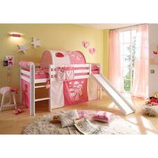 Rutschbett Spielbett Kinderbett Hochbett Kinderzimmer Kiefer Holz massiv weiß