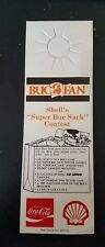 1986 Coca Cola Coke Advertisement Tampa Bay Buccaneers Shell Gasoline Rare