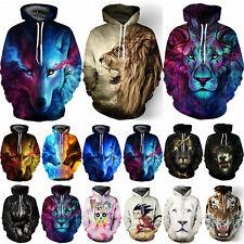 3D Graphic Men Women's Hoodie Sweater Sweatshirt Jacket Coat Pullover Animal Top