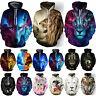3D Graphic Men Women's Hoodie Hooded Sweatshirt Jacket Coat Pullover Animal Top