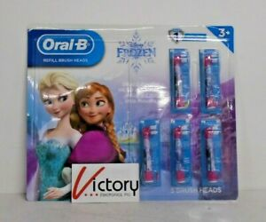 NEW Oral-B Kids Brush Head Refills   Disney's Frozen   Pack of 5   Ages 3+