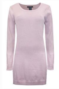 ELLOS OF SWEDEN Soft Cotton Dusty Pink Scoop Neck Jumper Dress