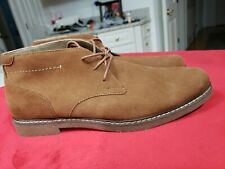 Sonoma Eldredge Chukka ankle Boots Shoes Leather Mens 11 Cognac Brown. New
