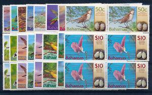 BAHAMAS 2001 DEFINITIVES (BIRDS) SG1249/1264 BLOCKS OF 4 MNH