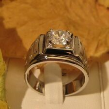 AGNES CREATIONS / BAGUE MIXTE CHIC RHODIUM SOLITAIRE ZIRCONIUM 1.25 CARAT