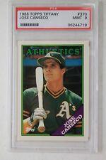 Jose Canseco Oakland Athletics 1988 Topps Tiffany #370 Graded Card PSA 9