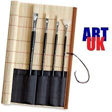 Empty Artists Quality Bamboo Paint Brush Pencil and Pen Roll Wrap 30 x 30cm sq.